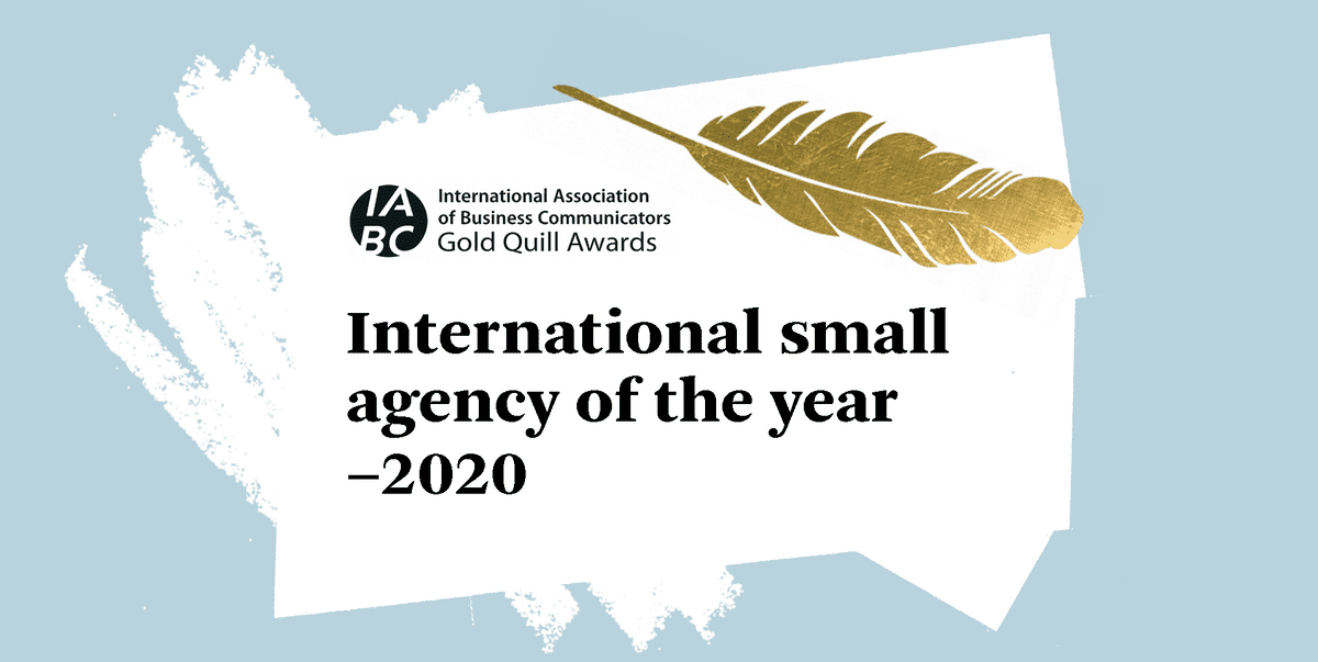 Ellis Jones named as IABC's Small Agency of the Year!
